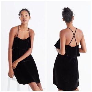 Madewell Velvet Ruffle Mini Dress